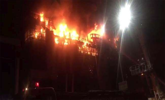 Massive fire breaks out at HashTag Restro Bar, two security guards rescued