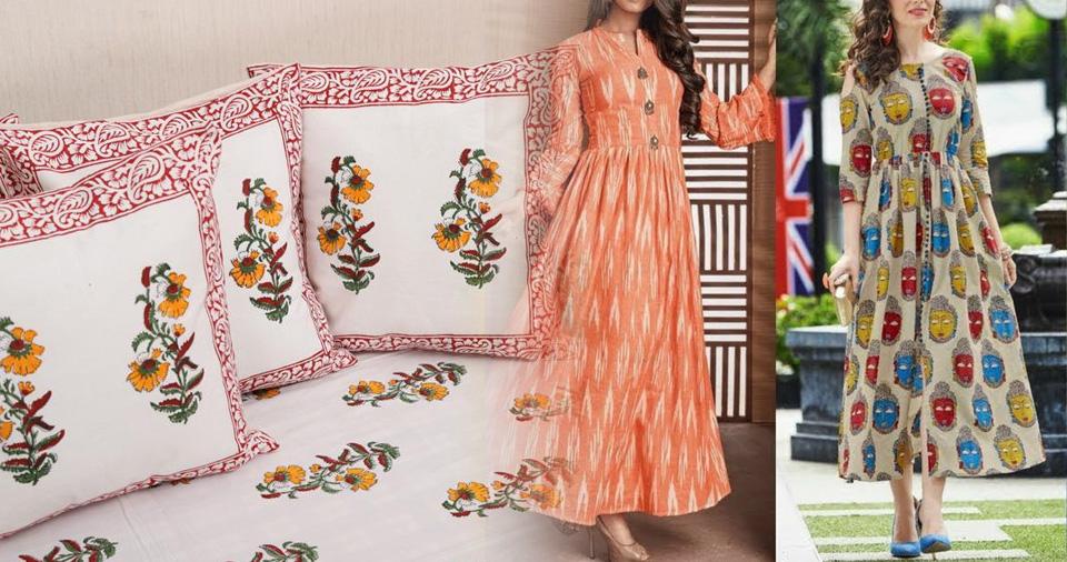Block print Linen in Jaipur