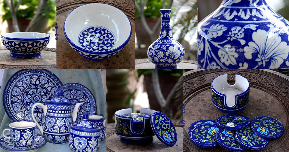 Blue pottery In Jaipur
