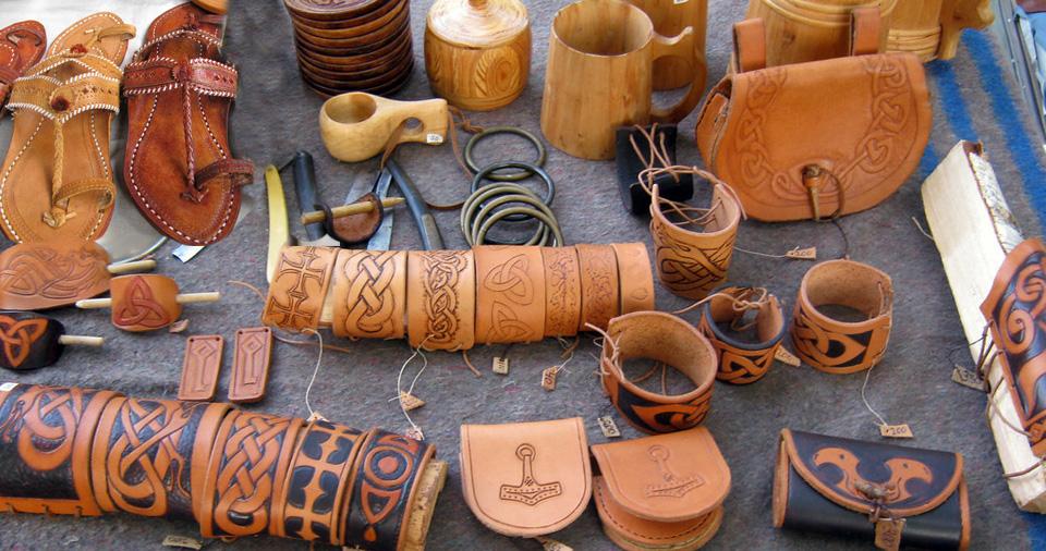 Camel leather handicrafts