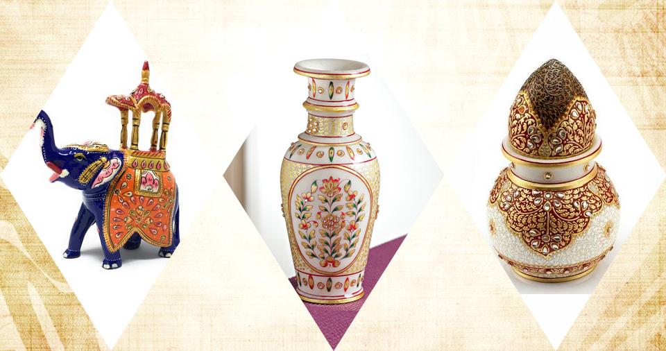 Meenakari artifacts in Jaipur
