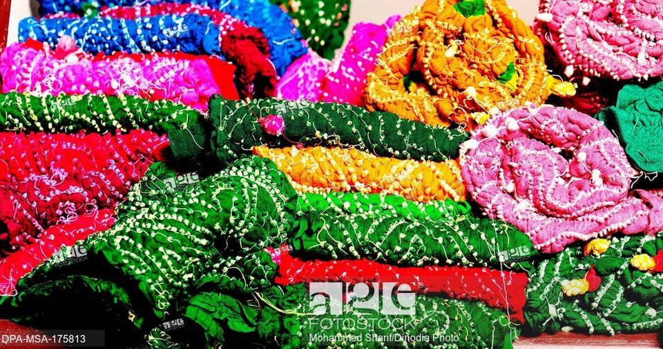Rajasthani bandhej textiles