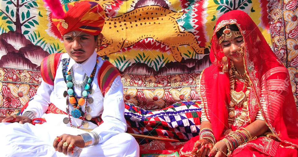 Rajasthani dresses and jewelry