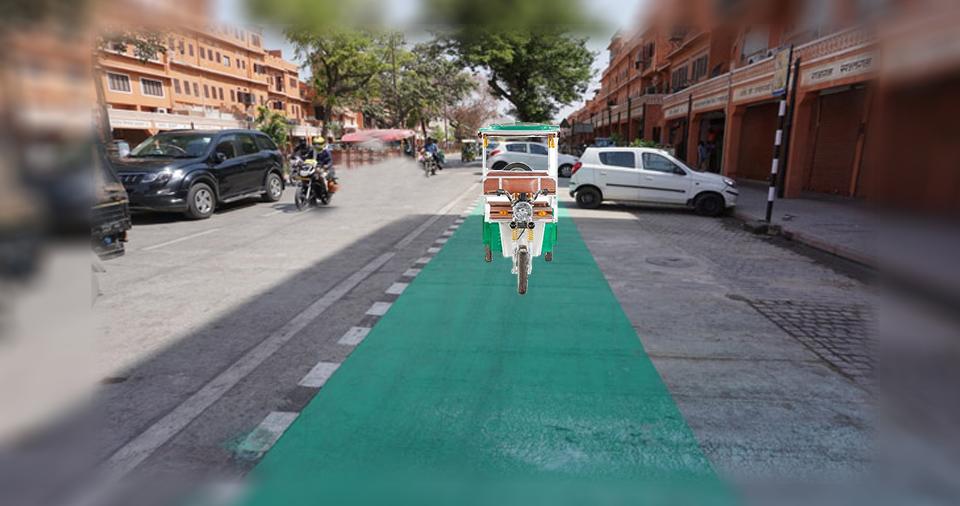 Open-green corridors in Smart road