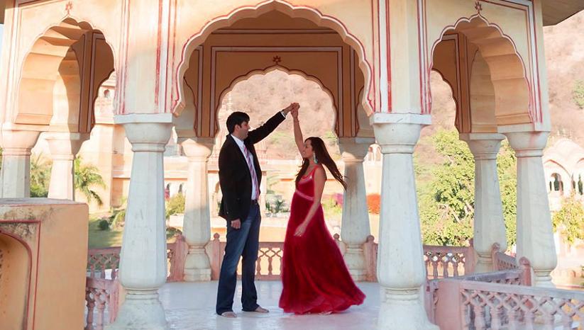 pre-wedding shoot in Jaipur