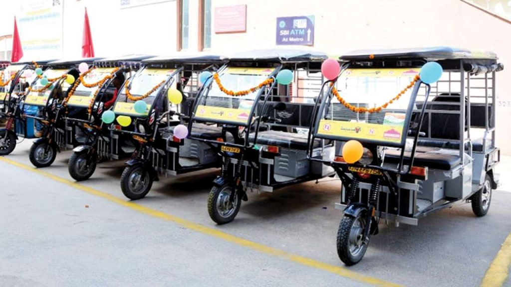 route of e-rickshaws in jaipur