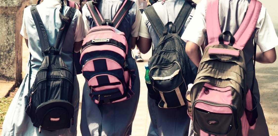 weight of school bags