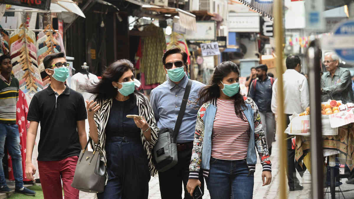 Rajasthan imposes a law of wearing face masks in public